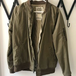 Lucky Brand Green Bomber Jacket. Barely Worn